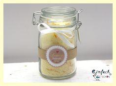 Badesalz - Lemon Badesalz Meeres-Badesalz 250g - ein Designerstück von einfachschoen-shop bei DaWanda