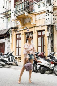 Casual in Hanoi :: Ruffles & Gladiator sandals - Wendy's LookbookWendy's Lookbook