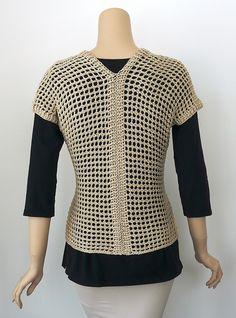 Ravelry: dorisjchan in Tokyo vest Crochet Tunic, Crochet Clothes, Knit Crochet, Crochet Coaster Pattern, Knit Vest Pattern, Ravelry, Addi Knitting Machine, Big Knit Blanket, Big Knits
