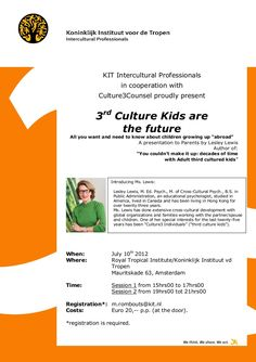 Third Culture Kids talk in Amsterdam by Lesley Lewis.