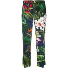 F.R.S For Restless Sleepers Ceo pyjama trousers (€430) via Polyvore featuring pants, multicolor, silk trousers, silk pants, colorful pants, multi color pants and multi colored pants