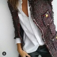 a classy blazer worn in a relaxed style