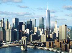 new york skyline tower One World Trade Center à New York devient la plus haute tour dAmérique