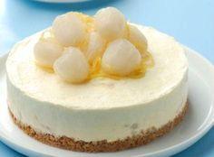 Lychee Frozen Cheesecake – All my Recipes Lychee Cheesecake, Frozen Cheesecake, Cheesecake Recipes, Dessert Recipes, Fruit Dessert, Baking Desserts, Candy Recipes, Dessert Ideas, Lychee Recipes