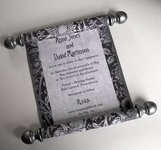 scroll invitation - if we do a Renaissance theme