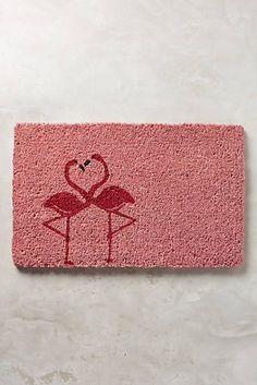 Flamingo Love Doormat