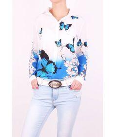 Biela blúzka M239 Graphic Sweatshirt, Sweatshirts, Blouse, Long Sleeve, Sleeves, Sweaters, Tops, Women, Fashion