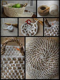 Een mandje kun je ook zelf maken/breien.