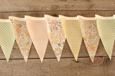 Dainty Florals- Vintage Bunting Banner with 12 Flags. $22.00, via Etsy.