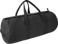 Canvas Seesack Universal Tasche aus reiner Baumwolle Farbe Schwarz Größe 70L