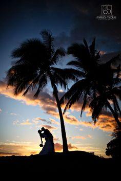 シルエットはぜひ撮ってもらおう♡ウェディング、ブライダル・フォトは一生の思い出。ハワイでの結婚式の写真の参考一覧を集めました♡