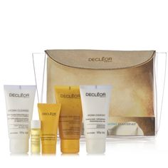 228532 Decleor 7 Piece Anti Ageing Body and Mind Collection QVC PRICE: £43.00 EVENT PRICE: £35.97 + P&P: £4.95 A complete skincare and bodycare collection from Decleor, featuring a Hydra Floral Discovery kit packed with face and body products, plus an individual eye serum and an evening skincare balm in great trial sizes. Enjoy discovering the anti-ageing benefits of Decleor products with this wonderful seven-piece set.