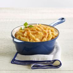 ... penne pasta smothered in their award winning Flagship cheese sauce