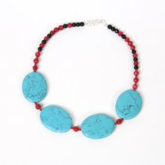 Turquoise Statement Necklace by MyJewelryEvents on Etsy