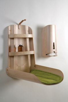 Space Saving Wall Mounted Baby Changing Table is a baby furniture from Bybo. These changing tables are the work of Swedish designerBo Ekströmand are not for the budget-conscious. According toDaddyTypes.com, the fold-up changing table is...