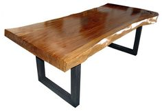 Wood Slab Dining Tables | Photos of Wood Slab Dining Table