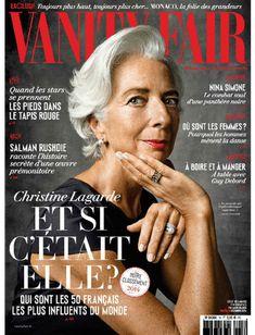 Christine Lagarde for Vanity Fair France December 2014 Iranian Women Fashion, Short Women Fashion, Mature Fashion, Over 50 Womens Fashion, Actresses With Black Hair, Red Haired Actresses, Young Actresses, Guy Debord, Nina Simone
