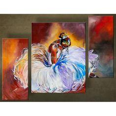 Danseres Schilderijen. Zowel modern als abstract. Prachtig met de handgeschilderd. Unieke wanddecoratie.