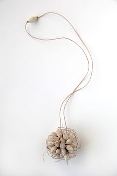 Kiff Slemmons, United States, Necklace - Ajo, cotton, agave, handmade paper