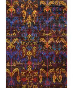 Rugsville  Ethos Sari-Silk Brown Multi 13850  Rug