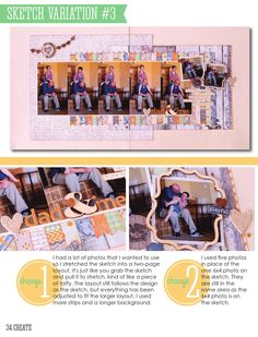CREATE: Issue 8, August 2014  Scrapbook pages, cards, embellishments and more featuring Scrapbook Generation's exclusive sketches.