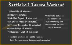 Who needs machines, barbells and dumbbells? You can do a full-body tabata workout using just a kettlebell. Who needs machines, barbells and dumbbells? You can do a full-body tabata workout using just a kettlebell. Tabata Crossfit, Kettlebell Circuit, Kettlebell Training, Tabata Workouts, Interval Training, At Home Workouts, Body Workouts, Kettlebell Challenge, Group Workouts