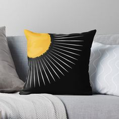 #sun #largeststar #sunrays #hot #weather #earth #thesolarsystem #ozonelayer #yellowandgold #geometric #minimalist #aesthetic #simplistic #pattern #naturelovers #theenvironment #tiktok #visco #giftsandholidays #boho #retro #chic Ozone Layer, Retro Chic, Vignettes, Wands, Original Art, Minimalist, Weather, Earth, Throw Pillows