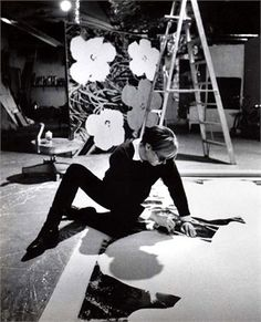 Andy Warhol in his studio, 1970s