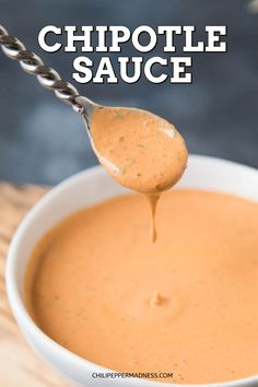 A quick and easy recipe for chipotle sauce that focuses more on the chipotle and less on the other ingredients. Chipotle all the way, yet still super creamy. Taco Sauce Recipes, Chipotle Recipes, Homemade Chipotle, Homemade Sauce, Taco Bell Recipes, Homemade Aioli, Chipotle Crema, Chipotle Taco Sauce Recipe, Vinaigrette