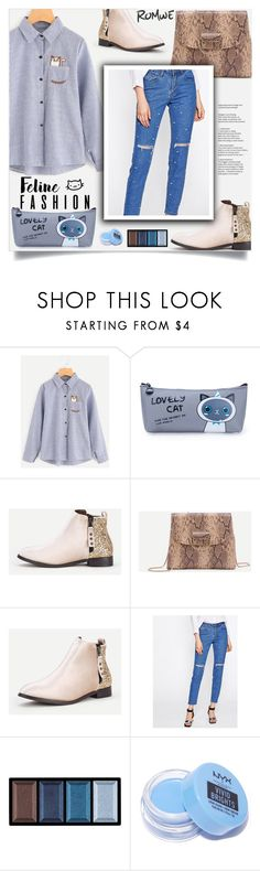 """""""The Cat's Meow: Feline Fashion"""" by samra-bv ❤ liked on Polyvore featuring Clé de Peau Beauté and NYX"""