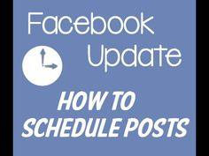 How To Schedule Posts On Your Facebook Business Page | Edit & Schedule P...