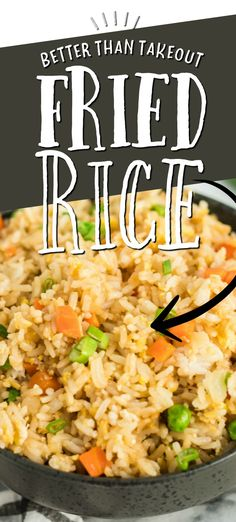 This quick and easy fried rice recipe is better than take out. It's restaurant style, but created at home with easy ingredients you'll have on hand. It comes together so fast and it's so filling. Even on a busy night, this is a simple side dish to get on the table. It's something everyone in our family loves to eat as well, making it a great choice. I hope you'll try this easy fried rice soon and enjoy it as much as we do. Easy Delicious Recipes, Vegetarian Recipes Easy, Fun Recipes, Delicious Food, Easy Weeknight Meals, Quick Easy Meals, Easy Cooking, Cooking Recipes