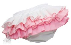 Pink White Baby Diaper Cover Ruffle Bloomer by BloominBloomers, $27.00