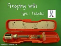 Many preppers have health challenges. Here are tips for those with Type 1 diabetes. | via www.TheSurvivalMom.com