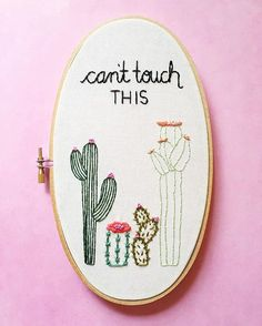 Join the rest of the cool kids that have my ever popular cactus hoop! You pick the colors for the flowers! Click the link in my profile to personalize & purchase your own #kimart #kimartdesigns #ihavethisthingwithpink #ihavethisthingwithcolor
