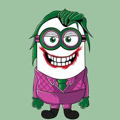 Minion: The Joker, The Dark Knight Minion Painting, Batman Painting, Minion Rock, Cute Minions, Minion Avengers, Minion Superhero, Image Joker, Minion Tattoo, Jdm