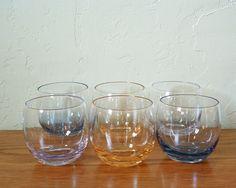 Ensemble de 6 verres à Vintage Roly Poly Multi par TheFrabjousDay
