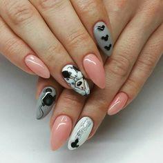 70 ideas for fails design swarosky colour Cute Nail Art, Cute Nails, Pretty Nails, Hair And Nails, My Nails, Aloha Nails, Disney Acrylic Nails, Mickey Nails, Pink Wedding Nails