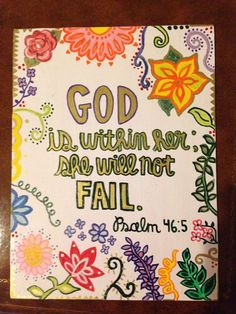 Bible verse painted canvas  by Beetscrafts on Etsy