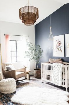 another look at this AMAZING nursery that we still can ' t believe is real! baby Olive will be so free to grow and explore. Boho Nursery, Nursery Neutral, Nursery Room, Girl Nursery, Girl Room, Baby Bedroom, Baby Boy Rooms, Baby Room Decor, Baby Boy Nurseries