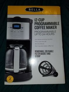 Small Kitchen Appliances: New Bella Programmable 12 Cup Coffee Maker Stainless Black -> BUY IT NOW ONLY: $33.95 on eBay!