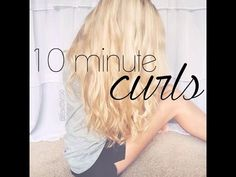 Beachy Curls Under 10 Minutes