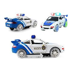 WonderPlay Bump And Go Justice Team Police Action Car  Beautiful Vibrant Flashing Lights And Siren Sounds  Drives on its Own  Great Gift For Boys  Girls 3 >>> To view further for this item, visit the image link.