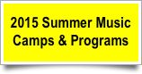 2015 summer music camps