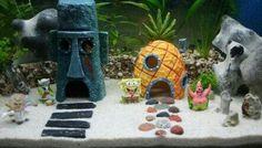 Spongebob Squarepants themed aquarium DIY my kids will love this