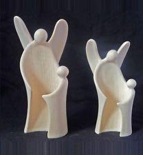 Schutzengel Ahorn natur 9cm Figur Skulptur