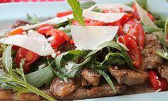 #Groupon #food #blog  Tagliata con rucola e pomodorini con scaglie di formaggio IL MIO SAPER FARE