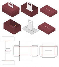 Design de modelo de corte de caixa de embalagem | Baixar vetores Premium Box Template Printable, Paper Box Template, Box Packaging Templates, Packaging Design, Packaging Dielines, Cookie Packaging, Cardboard Packaging, Diy Gift Box, Craft Box
