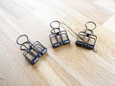 2 Small Size Midori Traveler's Notebook Style Binder Clip (Antique Brass Finish) (2.40 USD) by TarokoShop