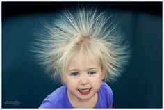 How to get rid of static in your hair: just rub a dryer sheet over it! Saves my life when winter weather comes around. Dryer sheet works on your hair just like it does on your clothes. Wacky Hair Days, Static Electricity, Wearable Technology, Kids Shows, Kids Education, Mix Match, Teaching Kids, Health And Beauty, Children